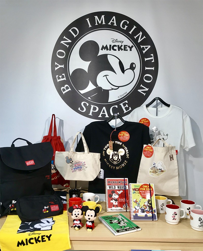 限定グッズがいっぱいの「disney mickey beyond imagination space